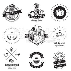 Illustration about Organic food logo vintage vector set. Hipster and retro style. Perfect for your business design. Illustration of label, business, blueberry - 55673692 Food Logo Design, Logo Food, Vintage Logo, Catering Logo, Hipster Logo, Logo Restaurant, Food Drawing, Food Festival, Food Illustrations