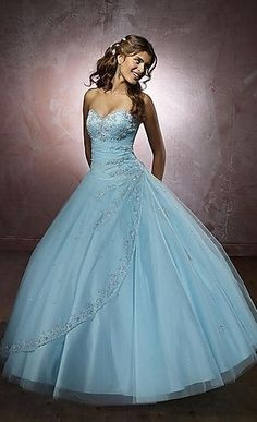 Beautiful Ball Gown Strapless Sweetheart Applique With Beading Floor Length Prom Dresses/Sweet 16 Dresses/Quinceanera Dresses prom0041