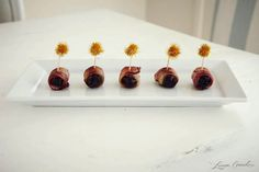 instant appetizer: wrap freshly pitted dates with your favorite type of bacon and bake in the oven at 400-degrees for 15 minutes #recipe |Pinned from PinTo for iPad|