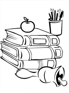 Compele School Supplies for Going Back to School Coloring