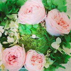 Ring display with preserved flowers #cmeldesign #preservedflower #jewelrybox #austinrose #不凋花 #永生花