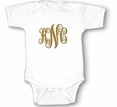 Personalized Baby Bodysuit with initials by BabyApparels on Etsy