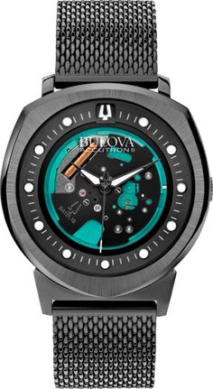 Bulova Watch Precisionist Accutron II S #25-percent-discount #bezel-fixed #bracelet-strap-black-pvd #brand-bulova #case-material-black-pvd #case-width-42mm #classic #delivery-timescale-4-7-days #dial-colour-green #gender-mens #movement-quartz-battery #new-product-yes #official-stockist-for-bulova-watches #packaging-bulova-watch-packaging #sale-2014-15 #sale-item-yes #subcat-precisionist #supplier-model-no-98a136 #warranty-bulova-official-3-year-guarantee #water-resistant-200m