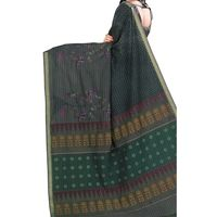 Flat 15% off on Multicolor Embroidered Cotton Sari - Printed Saree with Embroidery work. Buy now @ orangecheese.com. Free shipping in India. COD available. We deliver worldwide.