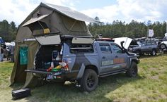 Toyota Tacoma fully overland prepared by X Overland Overland Tacoma, Overland Truck, Expedition Vehicle, Truck Tent, Truck Camping, Jeep Truck, Camping Hacks, Toyota Hilux, Toyota Tacoma