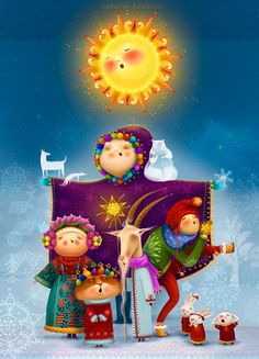 Nativity scene on Behance