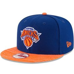 New York Knicks New Era Current Logo Team Solid 9FIFTY Snapback Adjustable  Hat - Royal Orange 7052102e20a