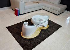 Linee rigorose per il tavolino Harmony un perfetto equilibrio  tra estro e fantasia.  Tavolino con struttura in vetroresina, base in legno massello, piano in vetro temperato 8 mm.   #Tcdesign #new #table #white #newarrive #news #arredamento #arredamentomoderno #arredamentointerni #arredamento #design #interiordesigner #designer #chiavedisol #music #musica #musically #harmony #lux #artigianato #italian #madeinitaly #royal #tavolini #tavoli #da #salotto #caffè #thè #tavolo