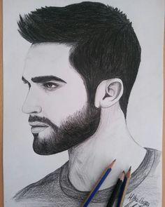Karakalem çizim Styles Teen Wolf, Teen Wolf Desenho, Pencil Drawings, Art Drawings, Gents Hair Style, Bridal Makeover, Boy Drawing, Wolf Quotes, Beard Tattoo