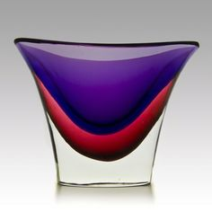 KOCOMA: Rare Flavio Poli 'Sommersi' vases, Seguso Vetri d'Arte, 1954