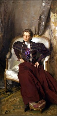 Charles Thursby (Alice Brisbane) by John Singer Sargent - Hand Painted Oil Painting Mrs. Charles Thursby (Alice Brisbane) by John Singer Sargent - Hand Painted Oil Painting Impressionist Artists, Montage Photo, Wayne Thiebaud, Oil Painting Reproductions, Paul Gauguin, Joan Mitchell, American Artists, Henri Matisse, Pierre Auguste Renoir