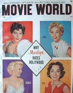 Movie World magazine 02-1956. Front cover photo of Marilyn Monroe.