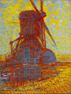 Piet Mondriaan (1872-1944) Molen; Molen bij zonlicht, 1908 Olieverf op doek 114,8 x 87 cm, Gemeentemuseum Den Haag #KleurOntketend