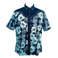 Prada Mens Spring 2012 Cowboy studded shirt