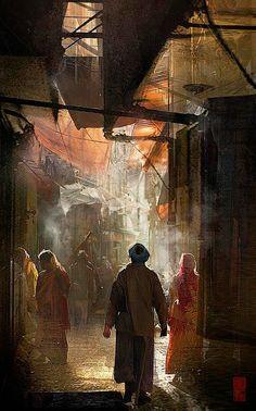 Tashbaan, an earlier part of Aravis and Cor's adventures.
