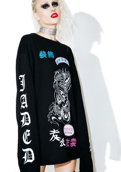 Jaded London Long Sleeve Rock Tee