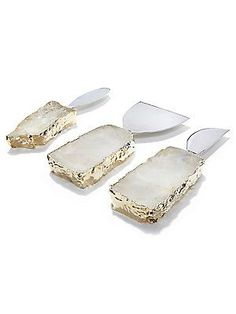 ANNA By RabLabs Kiva Cheese Knives & Spreaders - 3PC Set - No Colo