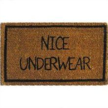 Door mat with a sense of humor. Haha door mat