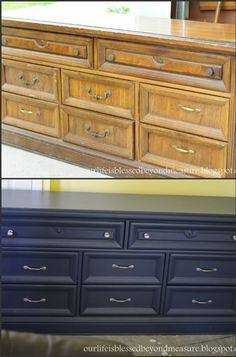 Blessed Beyond Measure: Hayden's $25 Craigslist Dresser: From Drab to Nautical Fab!