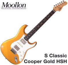 Moollon S Classic Stratocaster Gold 60's Vintage Sound Strat Electric Guitar #Moollon