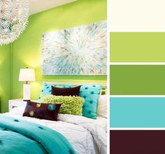 trendy bedroom colors for women Bedroom Color Schemes, Bedroom Colors, Colour Schemes, Bedroom Decor, Color Palettes, Bedroom Ideas, Green Rooms, Bedroom Green, Wall Colors