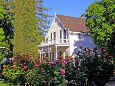 1856 Gothic Revival home open to the public in Oroville, CA featured at oldhouses.com            Oroville, California 95965