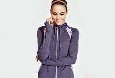 ElleSport performance running jacket print sport gym #elle #sport #running #performance