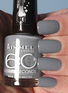 Rimmel nail polishes are great for anyone looking for a new nail color, but doesn't want to spend a fortune! I have 2 colors by Rimmel and they're very good quality nail polishes, definitely won't regret buying these if you do! :)