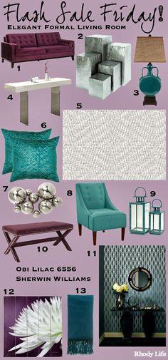 Flash Sale Friday: Elegant Formal Living Room via Rhody Life