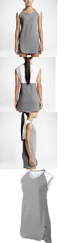 Skirts Skorts and Dresses 70901: Women S Nike Court Tennis T-Shirt Dress Skirt Size Xl Grey White 715220 062 Nwt -> BUY IT NOW ONLY: $34.36 on eBay!