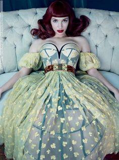 Chrysta Bell by Emma Summerton for Vogue Italia(Dress  Bustier by Alexander McQueen)