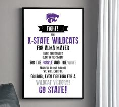 KSU Fight Song! This needs to be in my home