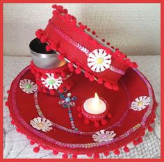 how to decorate karwa chauth thali at home