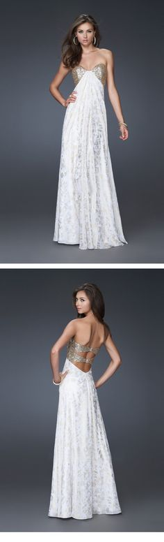 Brilliant A-Line Sweetheart Embroidery Evening/Prom Dresses
