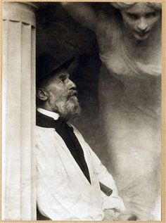 sculptor Albert Bartholomé, Paris, 1901, photographer Edward Steichen
