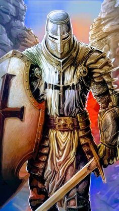 Armor Of God Tattoo, Angel Warrior Tattoo, Templar Knight Tattoo, Knights Templar History, Wizard Tattoo, Urban Samurai, Archangel Tattoo, Heaven Art, Crusader Knight
