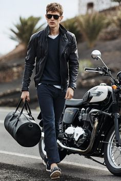 Leather Jacket - H.E. by Mango #mensoutfit