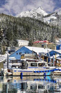 Alaska State Troopers boat in Cordova, Alaska