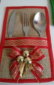 Image result for porta talheres com motivo de natal