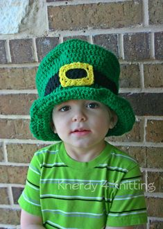 Leprechaun Hat St. Patrick s Day Crochet Top Hat Green Saint Patricks 6cdbd066c1f4
