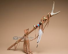 "American Indian Antler Dance Stick 31"""" -Tigua"