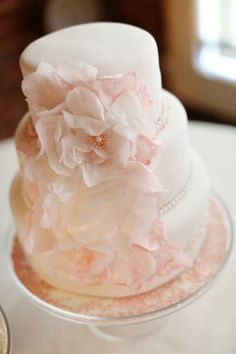 Wedding cake with wafer paper flower cake by mings cake boutique wedding cake with wafer paper flower cake by mings cake boutique pinterest wafer paper cake and wafer paper cake mightylinksfo