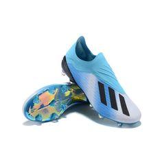 cheaper 41961 3392c Baratos Botas De Futbol Adidas X 18+ FG Azul Blanco Negro