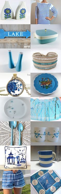 blue and white summer by sarah derbyshire on Etsy--Pinned with TreasuryPin.com
