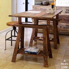 Mesa con caballetes 9