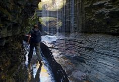 Lace up your hiking boots, pack a camera and a tripod, and take a walk to a waterfall in Upstate New York Hiking Club, Lake George Village, Summer Vacation Spots, Winter Hiking, Upstate New York, New York Travel, Lake Life, Best Vacations, Day Trips