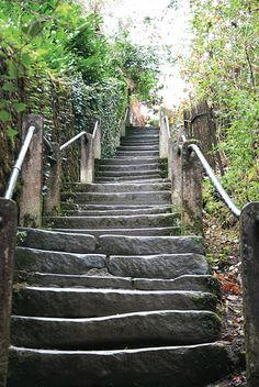Steps, Kirkby Lonsdale, Cumbria, England, UK