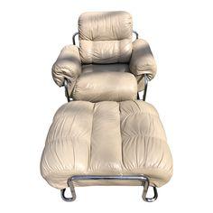 1970s Lounge Chair & Ottoman   Chairish