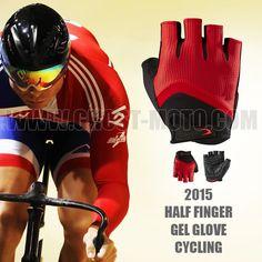 de1b83209 2015 Gel Half Finger Cycling Glove for Men Women Downhill DH Motocross MTB  Bmx