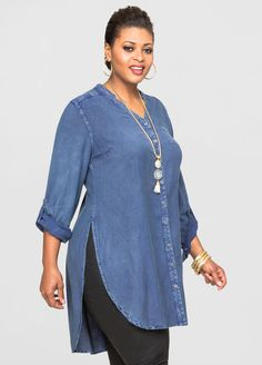 Denim Maxi Tunic Denim Maxi Tunic